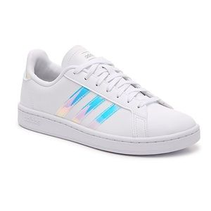 Grand court iridescent adidas sneaker shoes
